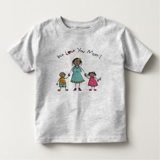 We Love You Mom Cartoon Family Happy Mother's Day T-shirts