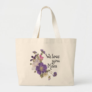 We love you Mom gifts Large Tote Bag