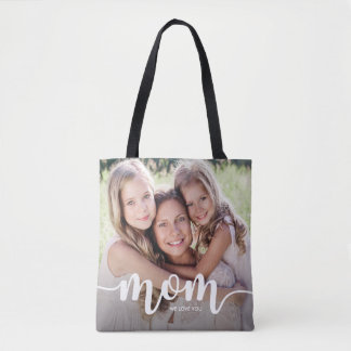 We Love You Mom | Two Full Bleed Photos Tote Bag