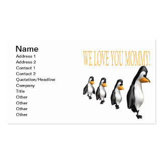 We Love You Mommy Double-Sided Standard Business Cards (Pack Of 100)
