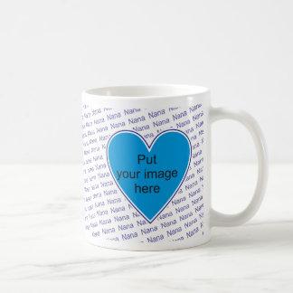 We love you Nana - personalize with photo Classic White Coffee Mug