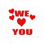 We Love You Postcard