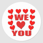 We Love You Stickers