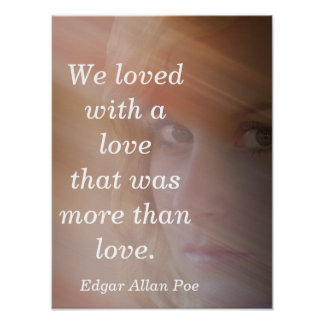 We loved with a love - art print
