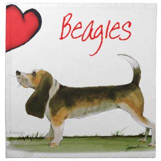 we luv beagles from tony fernandes cloth napkin