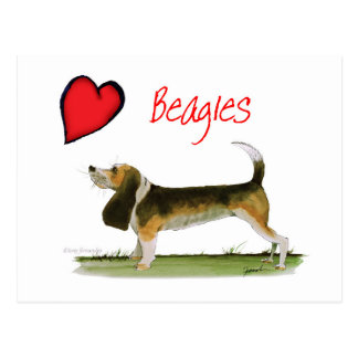 we luv beagles from tony fernandes postcard