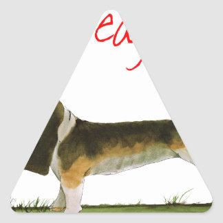 we luv beagles from tony fernandes triangle sticker