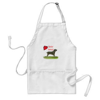 we luv border terriers from tony fernandes adult apron