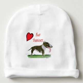 we luv bull terriers from tony fernandes baby beanie
