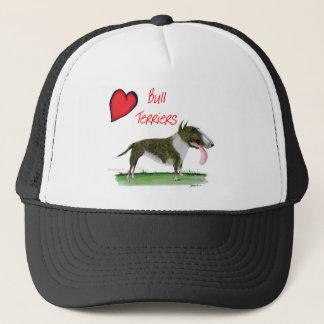 we luv bull terriers from tony fernandes trucker hat