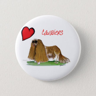 we luv cavaliers from tony fernandes pinback button