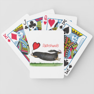 we luv dachshunds from Tony Fernandes Bicycle Playing Cards