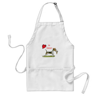 we luv fox terriers from Tony Fernandes Adult Apron
