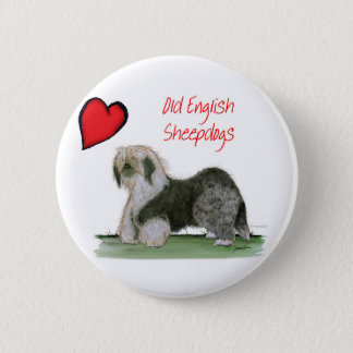 we luv old english sheepdogs, Tony Fernandes Button