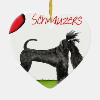 we luv schnauzers from tony fernandes ceramic ornament