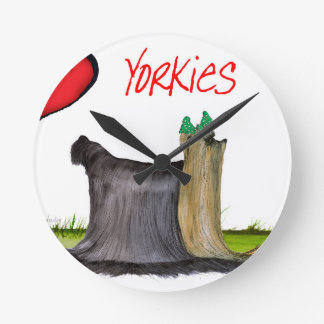 we luv yorkies from Tony Fernandes Round Clock