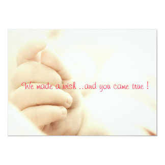 We made a wish ..and you came true ! 5x7 paper invitation card
