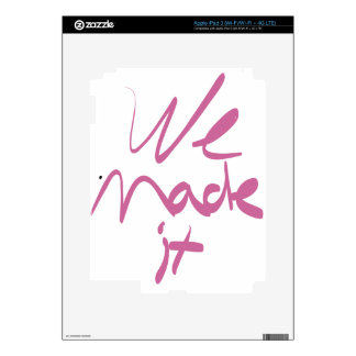 We Made It Skins For iPad 3