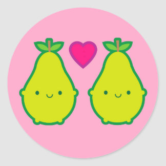 'We Make A Great Pair' Pears Classic Round Sticker