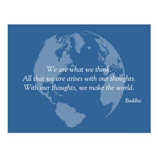 We Make the World Buddha Quote Postcards