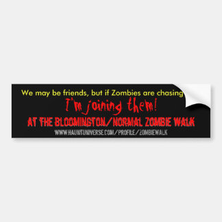 We may be friends 2 bumper sticker