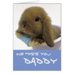 We Miss You Daddy Card - Blue