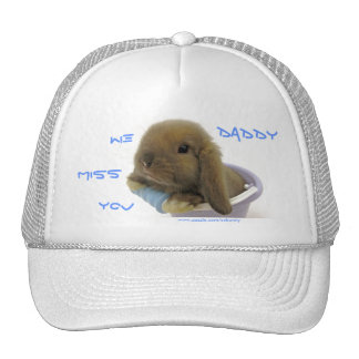 We Miss You Daddy Hat - Blue