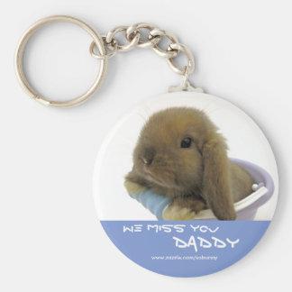 We Miss You Daddy Keychain - Blue