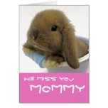 We Miss You Mommy Card - Blue