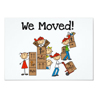 We Moved Announcement Cards