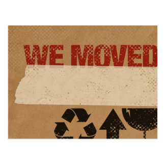 We Moved Cardboard Box Postcard