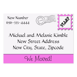 We Moved! Large Business Card