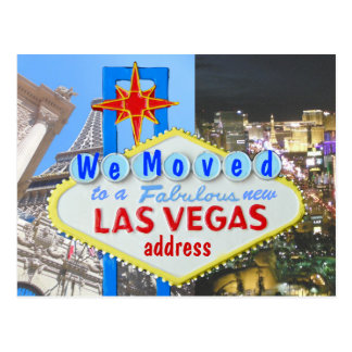 We Moved New Address Las Vegas Post Cards
