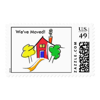 We Moved! Stamps