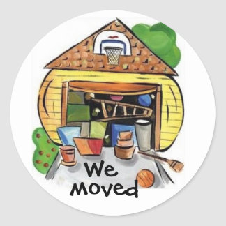 We Moved sticker