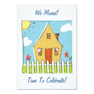 WE MOVED! TIME TO CELEBATE - CUTE / SWEET INVITE