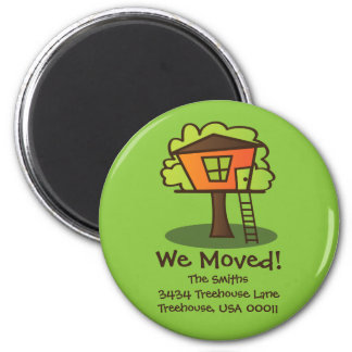 We Moved to a Playhouse! 2 Inch Round Magnet