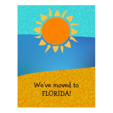 Beach Themed We Moved to Florida Change of Address Postcard
