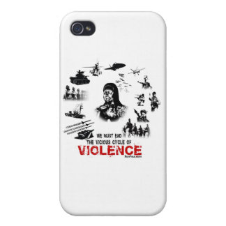 We Must End the Vicious Cycle of Violence! iPhone 4 Cases