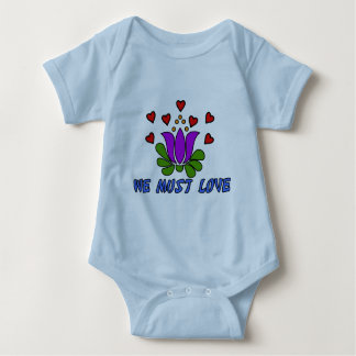 We Must Love Baby Bodysuit