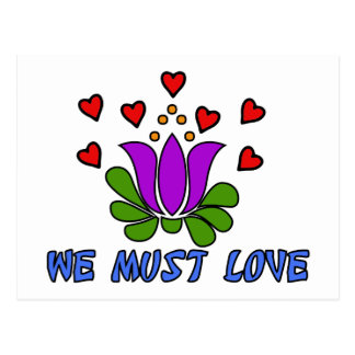 We Must Love Postcard