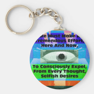We must make a tremendous effort to expel keychain