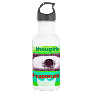 We must mold our thoughts water bottle