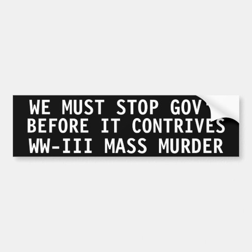 We must stop government bumper stickers