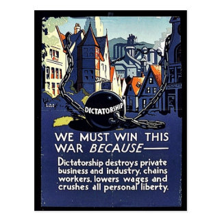 We Must Win This War Because Postcard