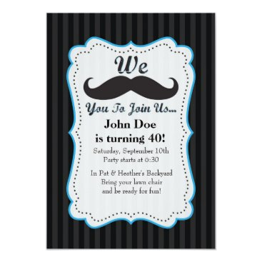 JYDesign We Mustache You To Join Us Birthday Invitation! Card