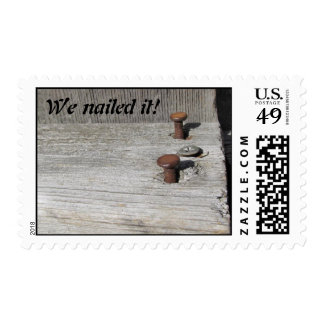 We nailed it postage