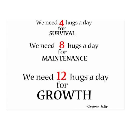 We need hugs... postcard