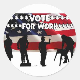 We Need Jobs Classic Round Sticker