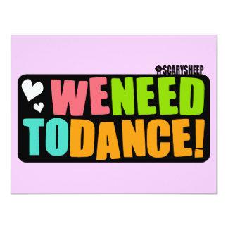 We Need to Dance Card